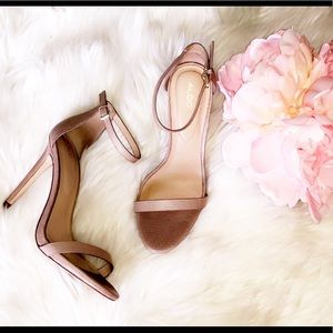 ALDO Nude Leather Stiletto Heels
